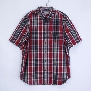 Carhartt Red & Blue Plaid Button Front Shirt